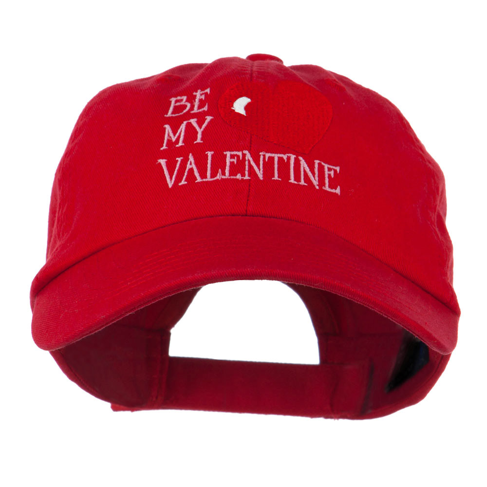 Be My Valentine Embroidery Cap - Red - Hats and Caps Online Shop - Hip Head Gear