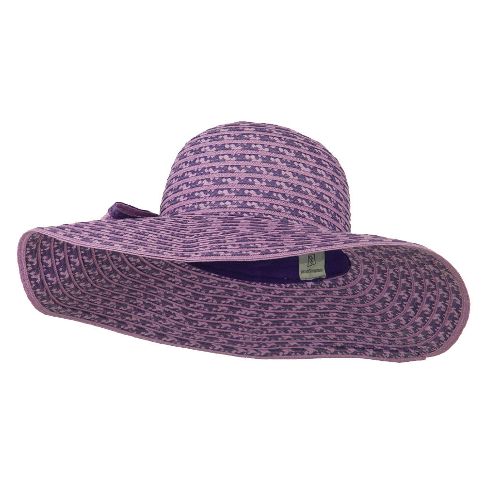 Big Bow Floppy Wide Brim Hat - Lavender - Hats and Caps Online Shop - Hip Head Gear