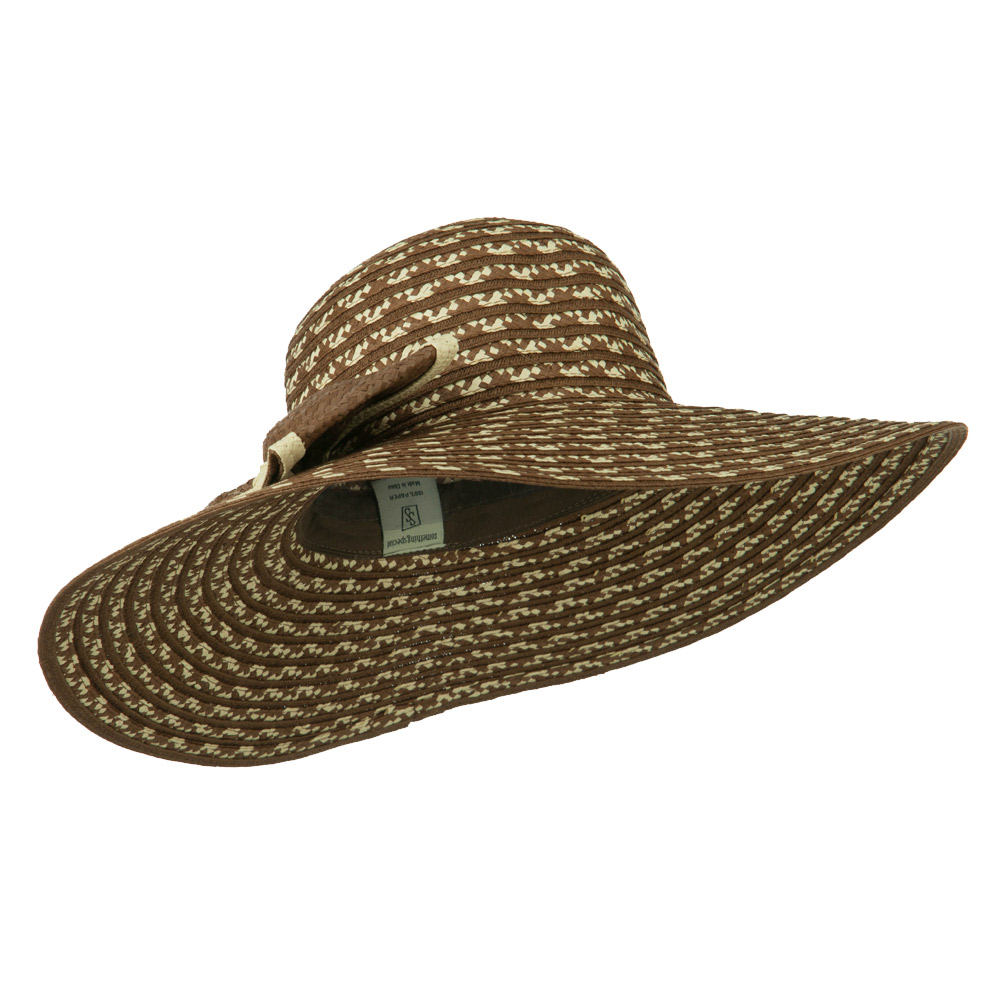 Big Bow Floppy Wide Brim Hat - Brown - Hats and Caps Online Shop - Hip Head Gear