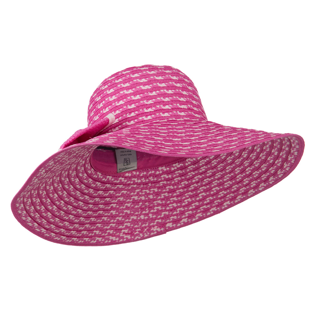Big Bow Floppy Wide Brim Hat - Pink - Hats and Caps Online Shop - Hip Head Gear