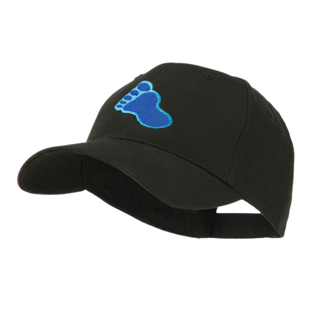 Bigfoot Track Mascot Embroidery Cap - Black - Hats and Caps Online Shop - Hip Head Gear
