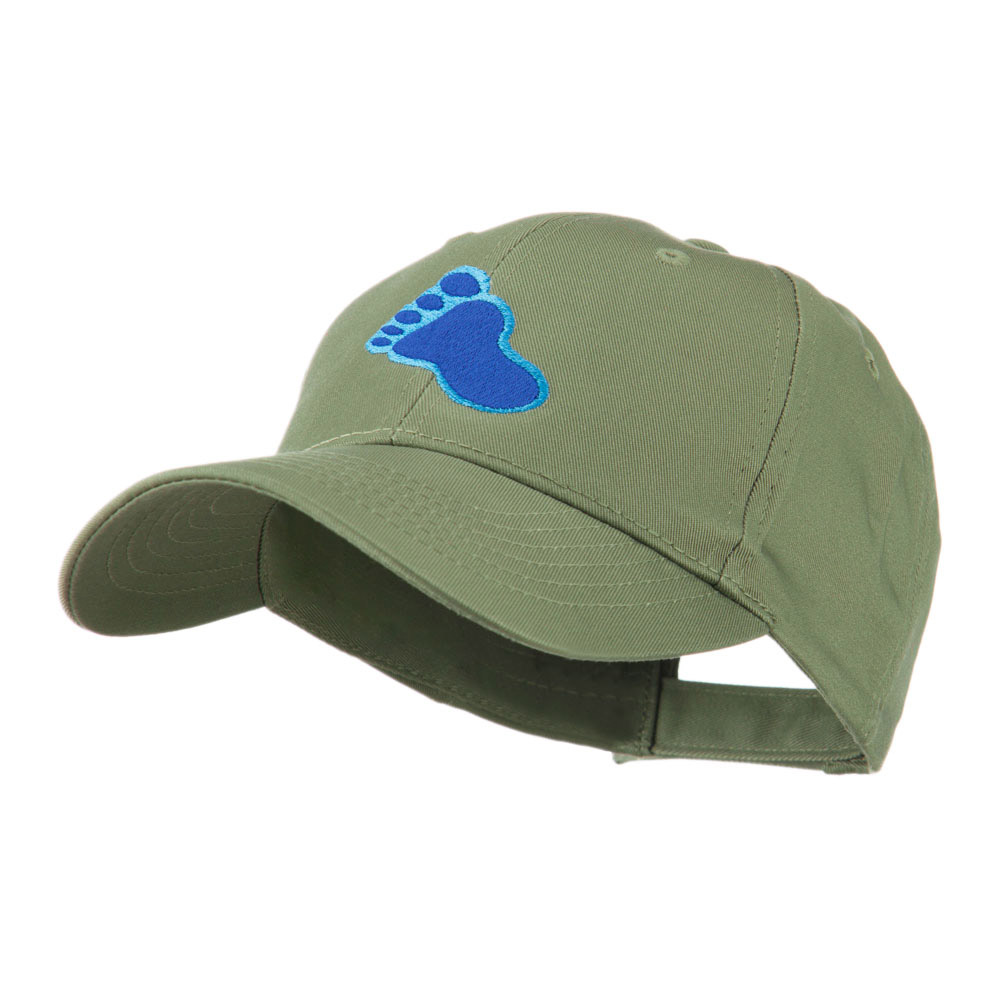 Bigfoot Track Mascot Embroidery Cap - Olive - Hats and Caps Online Shop - Hip Head Gear