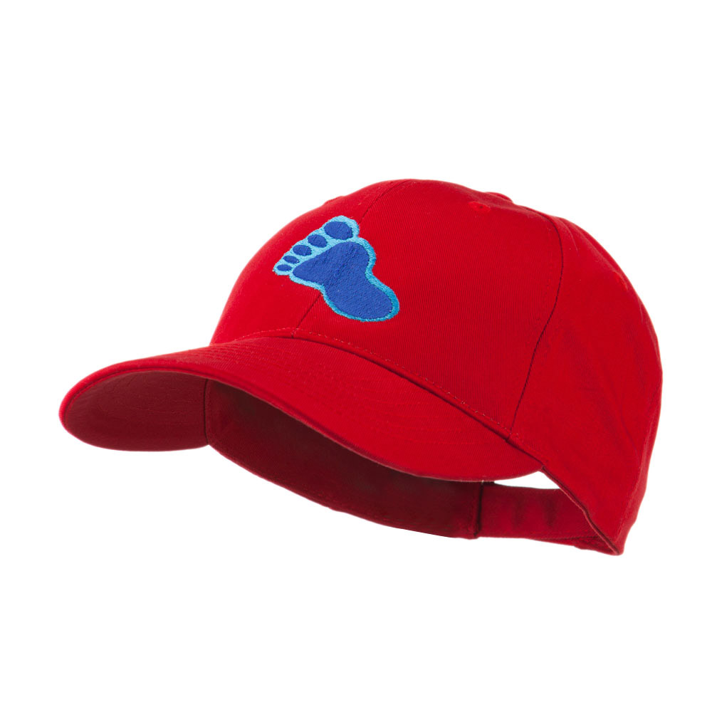 Bigfoot Track Mascot Embroidery Cap - Red - Hats and Caps Online Shop - Hip Head Gear