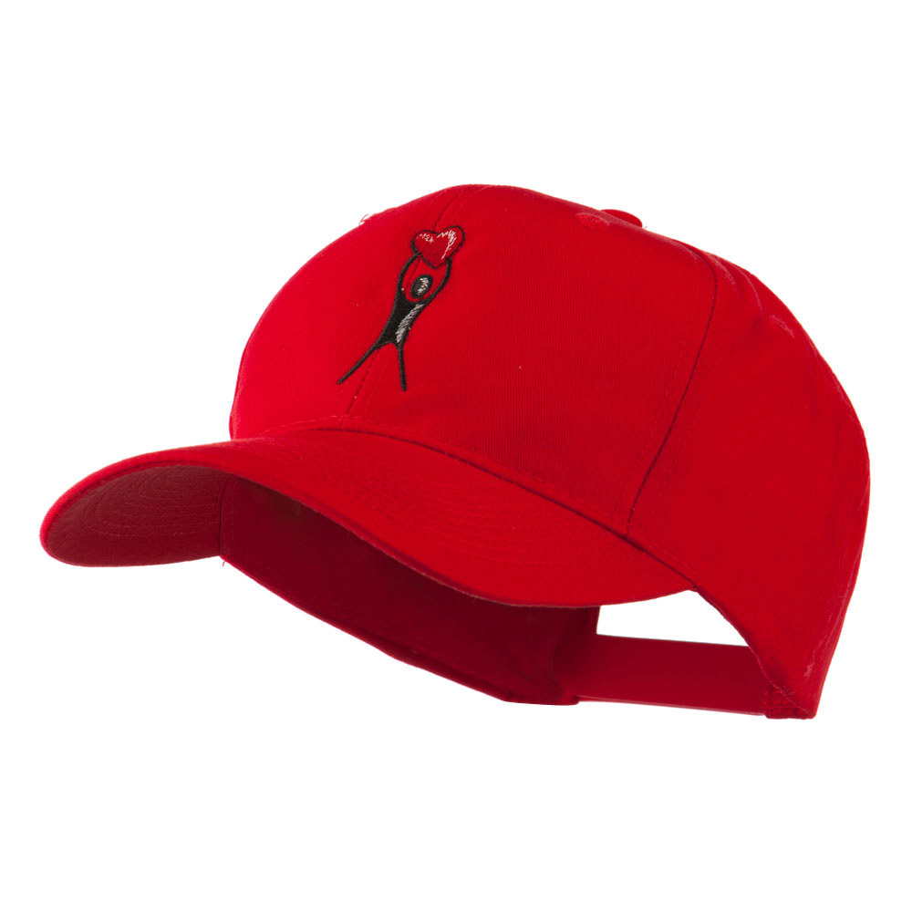 Breast Cancer Body Figure Heart Embroidery Cap - Red - Hats and Caps Online Shop - Hip Head Gear