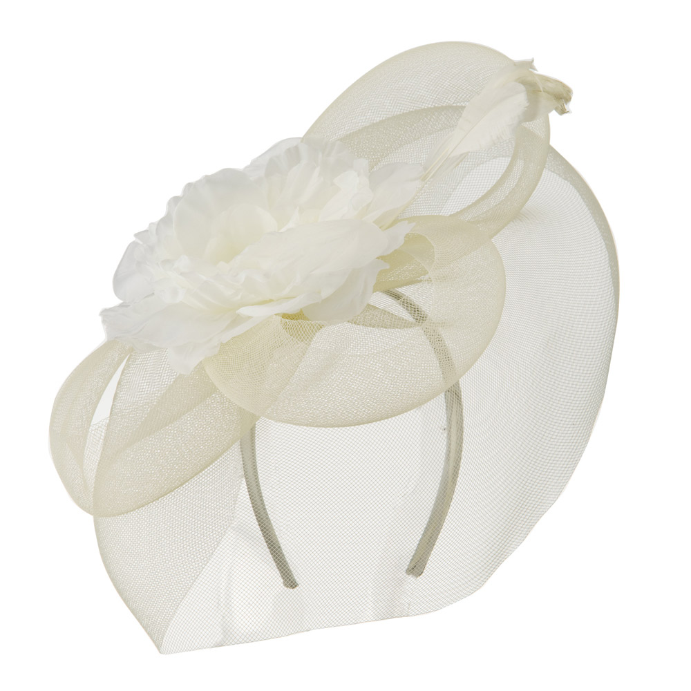 Big Flower Fashionable Headband - Ivory - Hats and Caps Online Shop - Hip Head Gear