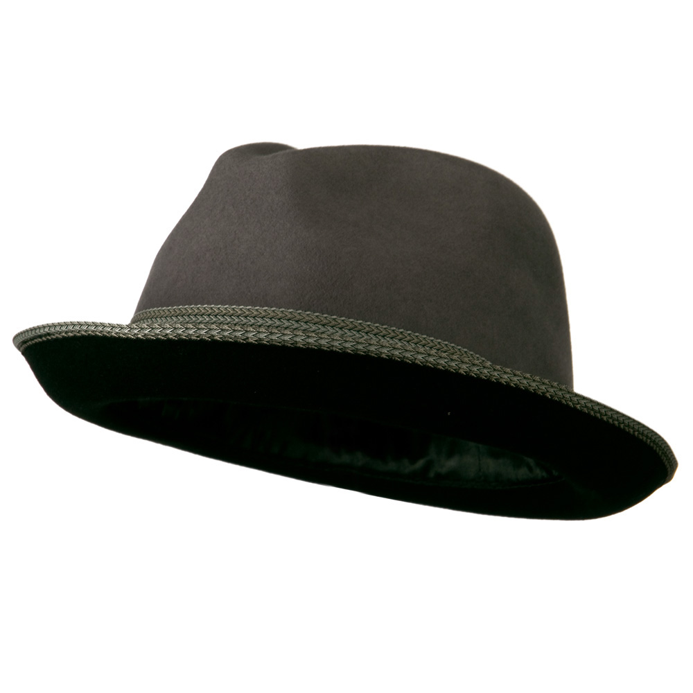 Man's Black Grey Felt Fedora - Grey Black - Hats and Caps Online Shop - Hip Head Gear