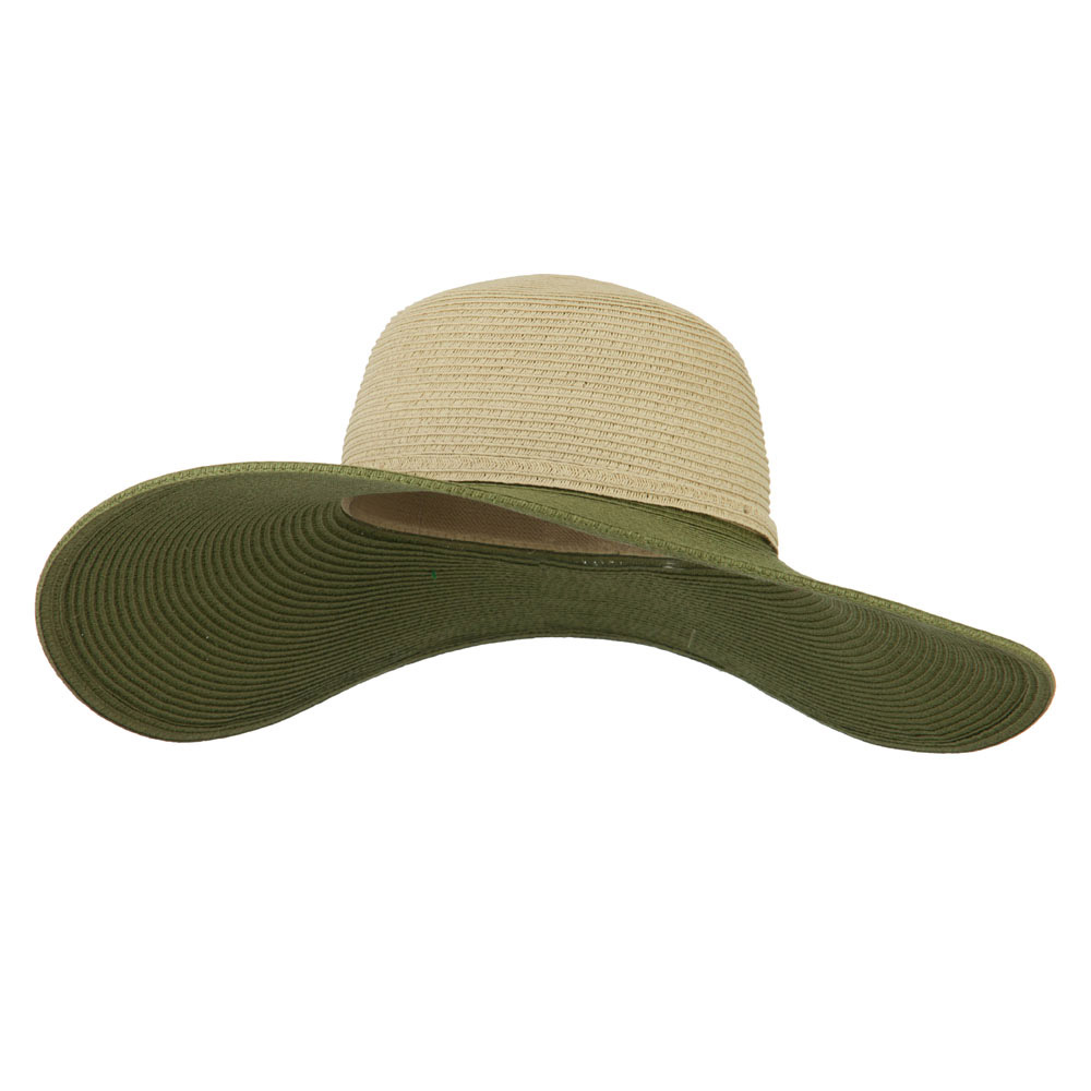 UPF 50+ Paper Braid Beige Crown Hat - Olive - Hats and Caps Online Shop - Hip Head Gear