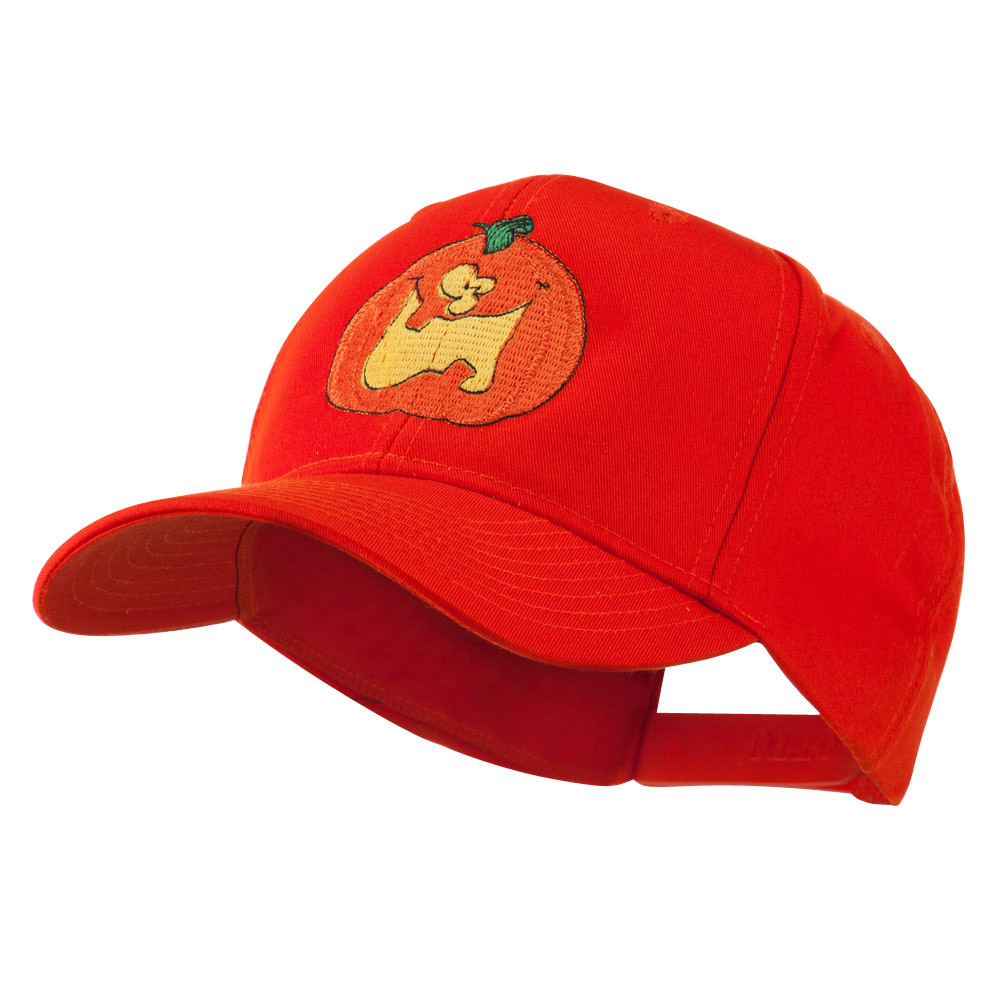 Funny Big Jack O Lantern Embroidered Cap - Orange - Hats and Caps Online Shop - Hip Head Gear