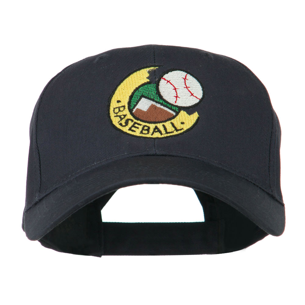 Baseball Logo Embroidery Cap - Navy