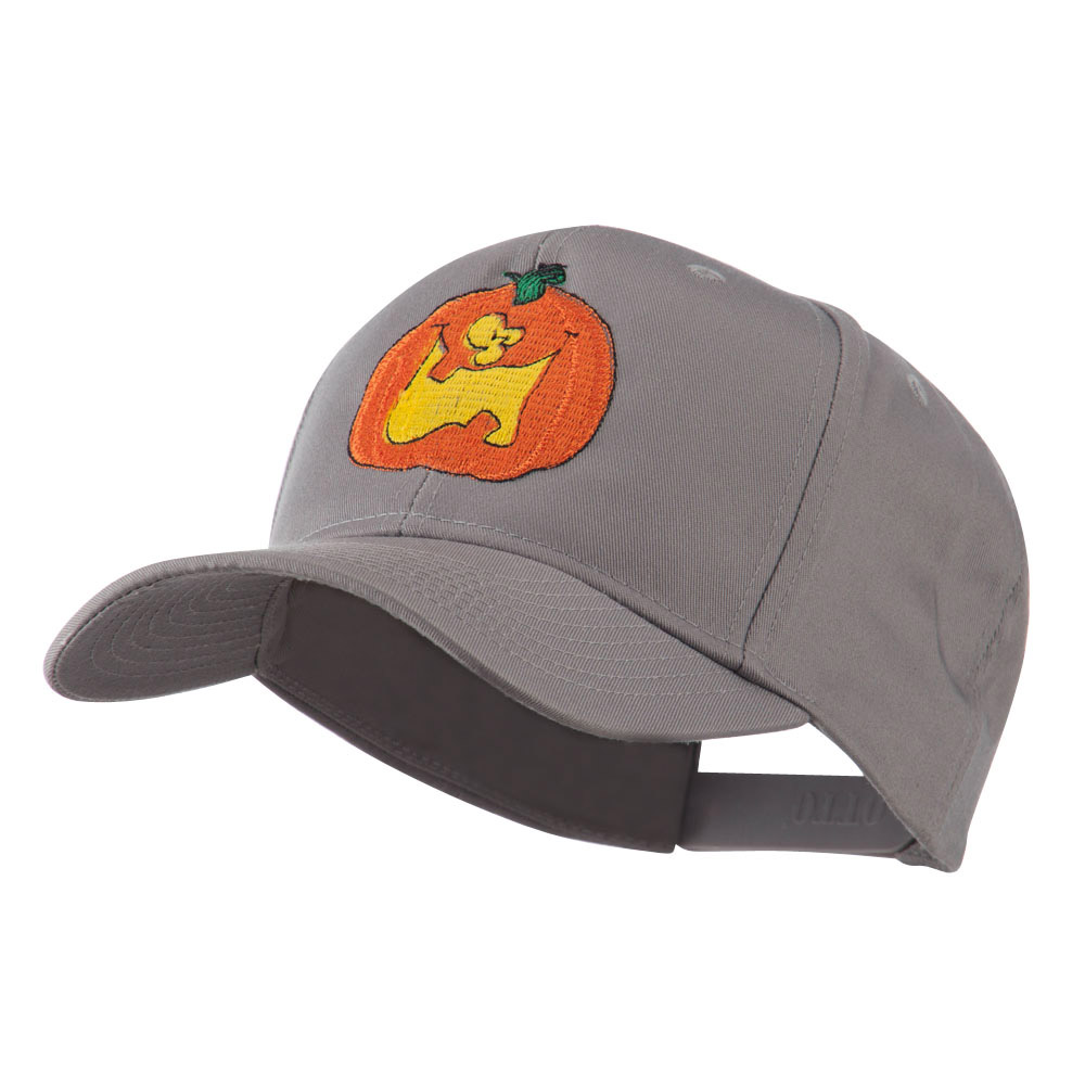 Funny Big Jack O Lantern Embroidered Cap - Grey - Hats and Caps Online Shop - Hip Head Gear