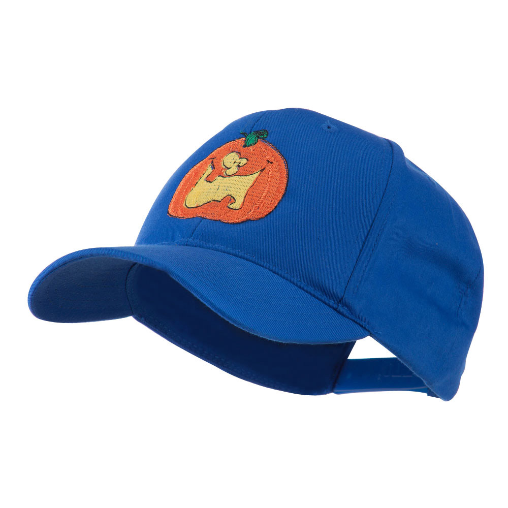 Funny Big Jack O Lantern Embroidered Cap - Royal - Hats and Caps Online Shop - Hip Head Gear