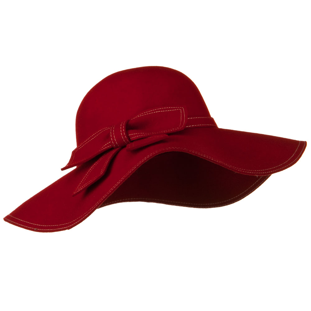 Stitched Bow Hat - Red - Hats and Caps Online Shop - Hip Head Gear