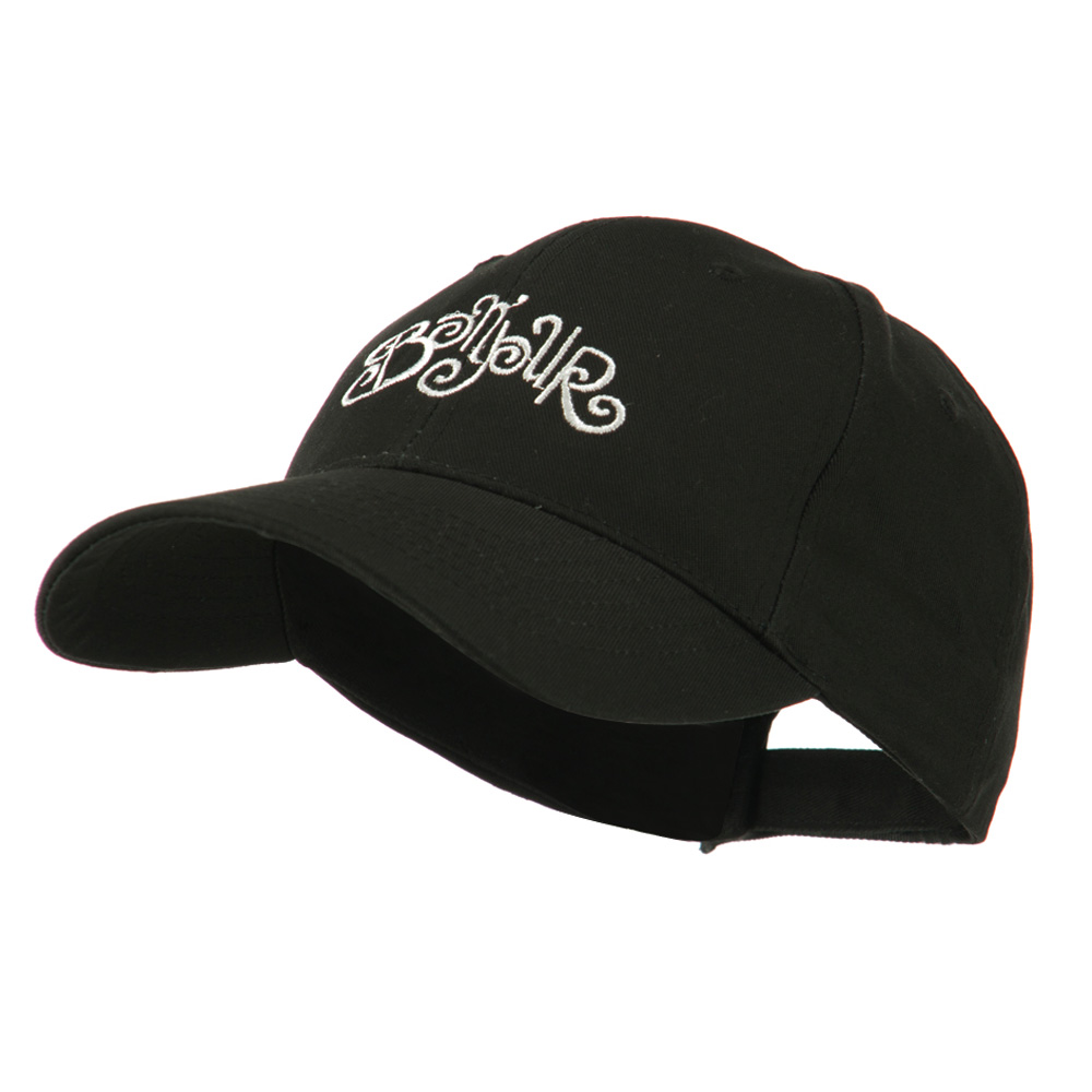 Bonjour French Embroidered Cap - Black - Hats and Caps Online Shop - Hip Head Gear