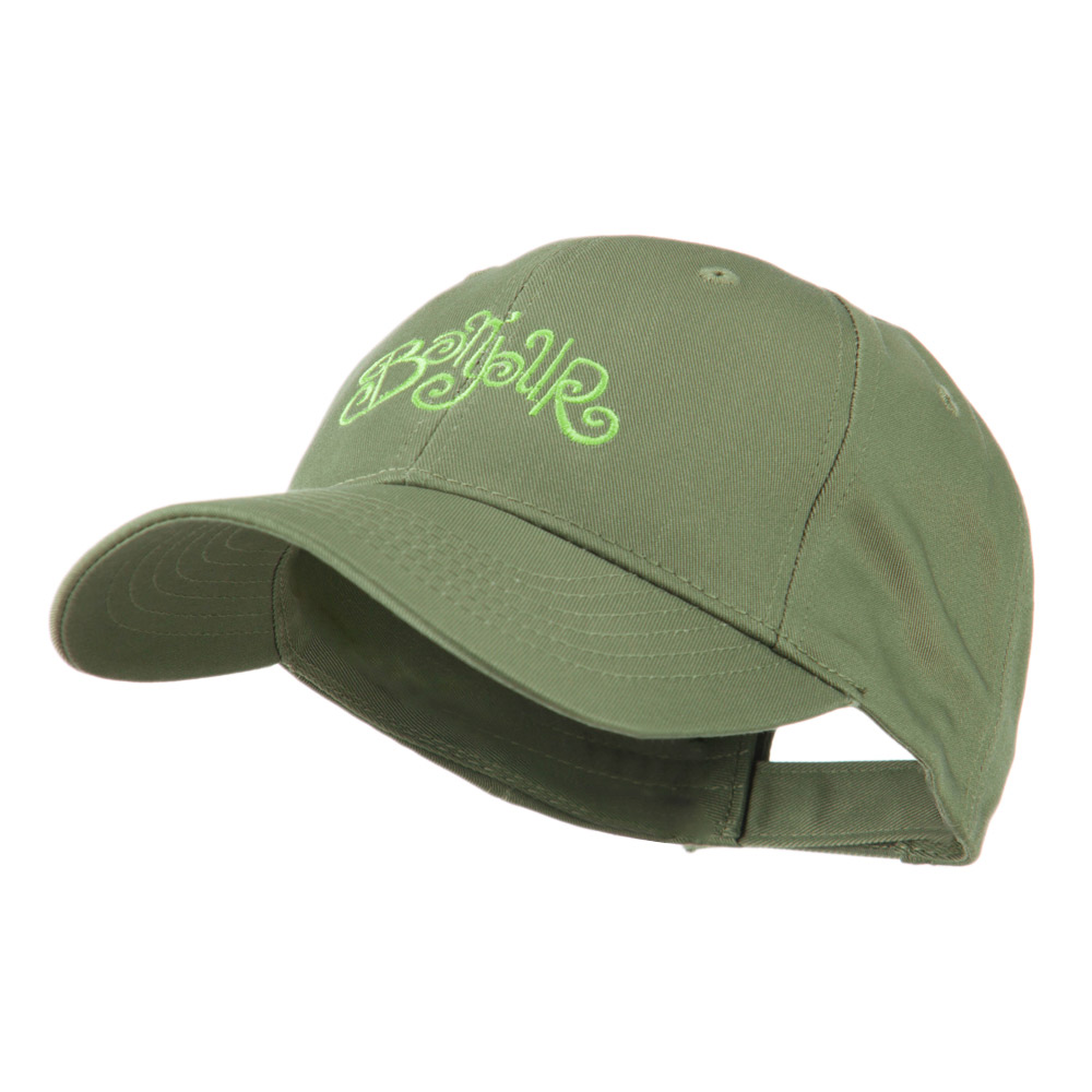 Bonjour French Embroidered Cap - Olive - Hats and Caps Online Shop - Hip Head Gear