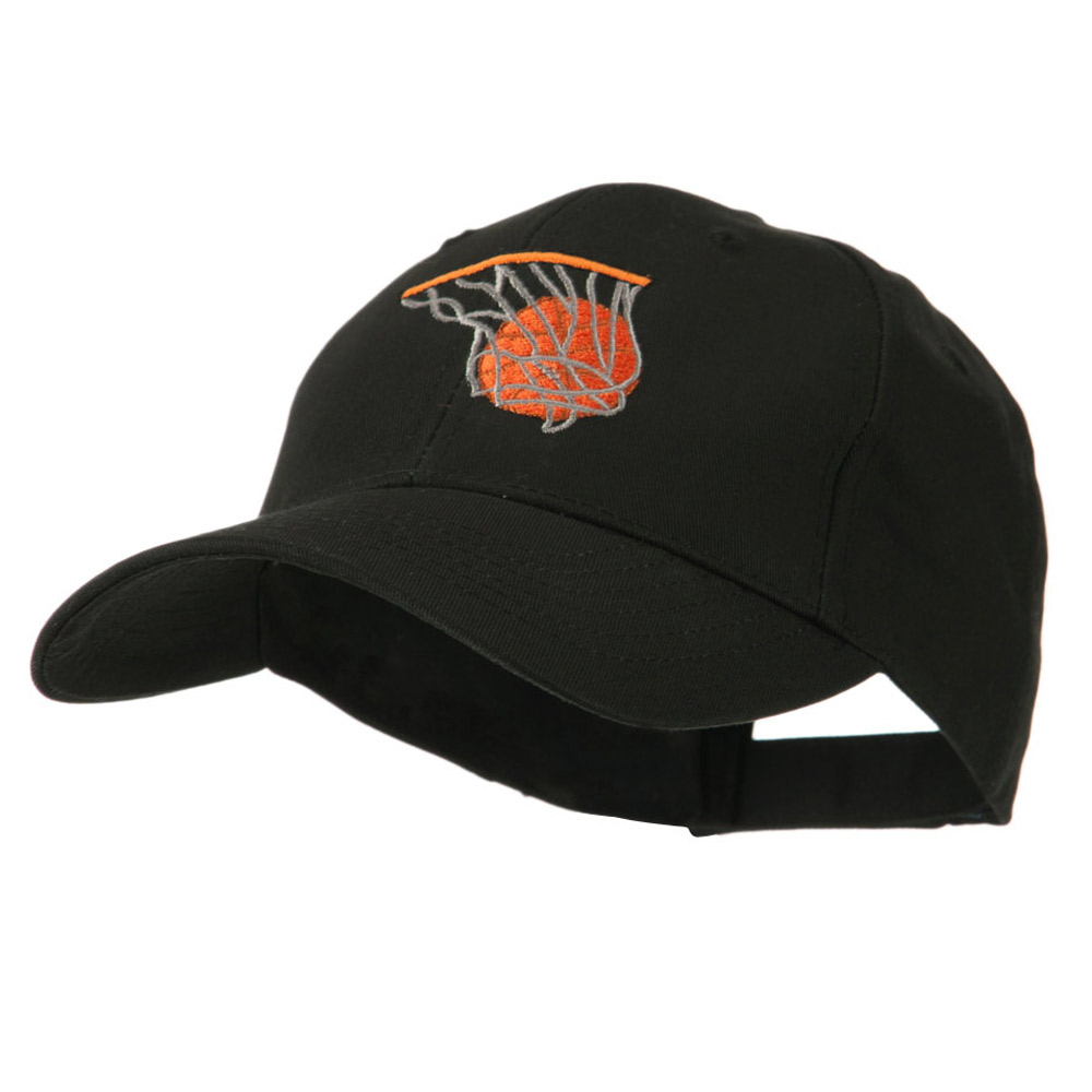 Basketball in Net Embroidered Cap - Black - Hats and Caps Online Shop - Hip Head Gear