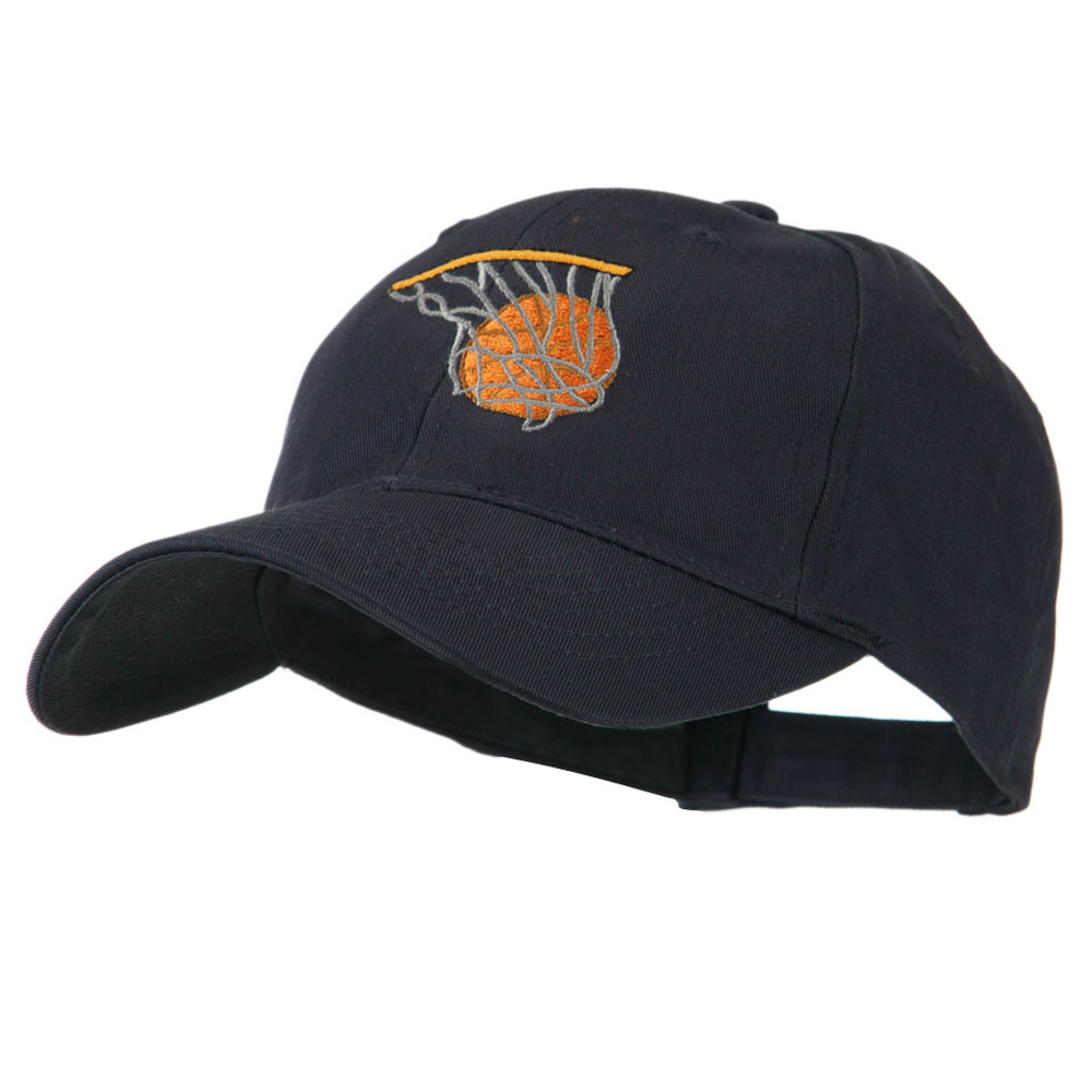 Basketball in Net Embroidered Cap - Navy - Hats and Caps Online Shop - Hip Head Gear