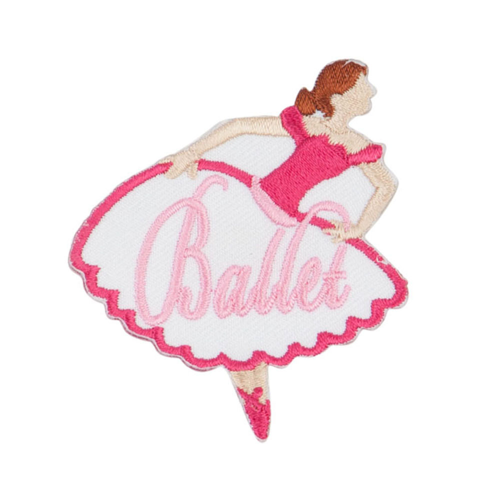 Ballet Embroidered Patches - Pink