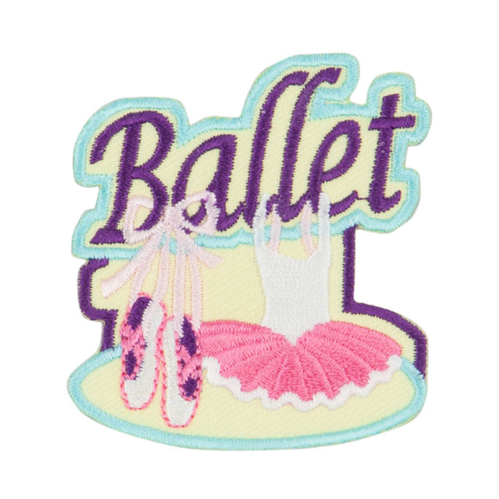 Ballet Embroidered Patches - Yellow