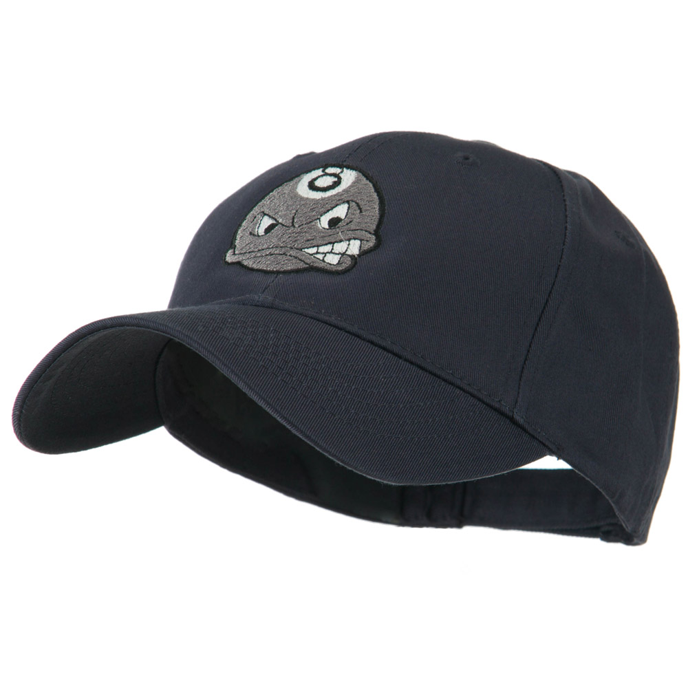 Billiard 8 Ball Face Embroidery Cap - Navy - Hats and Caps Online Shop - Hip Head Gear