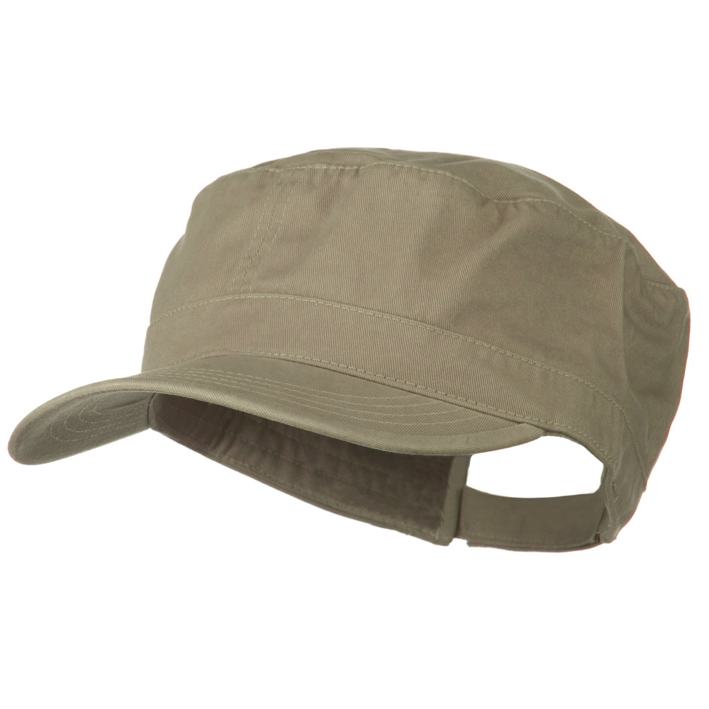 Big Size Solid Military Cap - Khaki - Hats and Caps Online Shop - Hip Head Gear