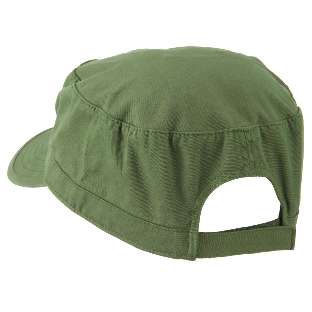 Big Size Solid Military Cap - Olive - Hats and Caps Online Shop - Hip Head Gear