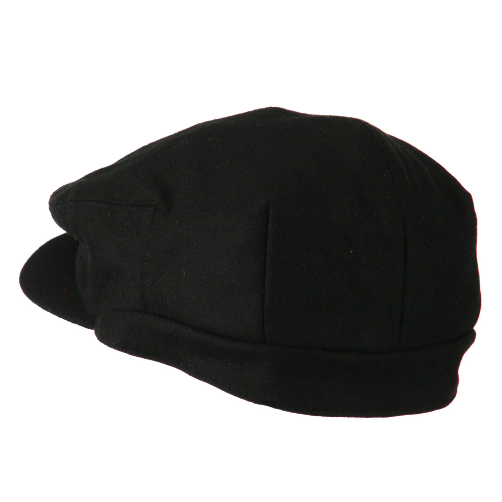 Big New Wool Blend Ivy Cap - Black - Hats and Caps Online Shop - Hip Head Gear