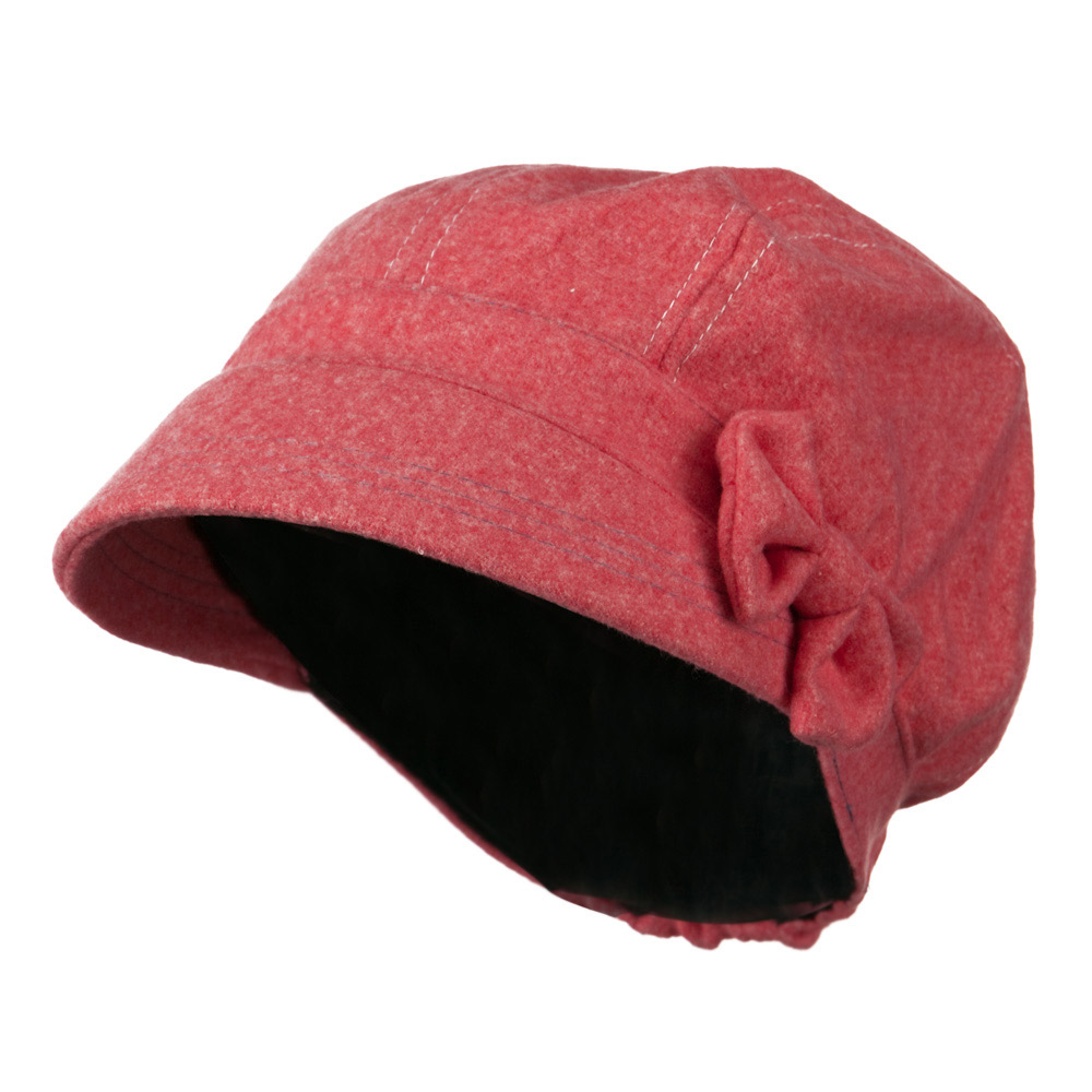 Polly Bow Newsboy Hat - Coral - Hats and Caps Online Shop - Hip Head Gear