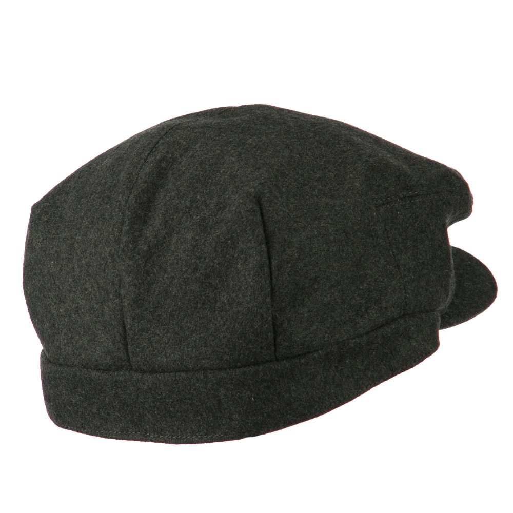 Big New Wool Blend Ivy Cap - Charcoal - Hats and Caps Online Shop - Hip Head Gear