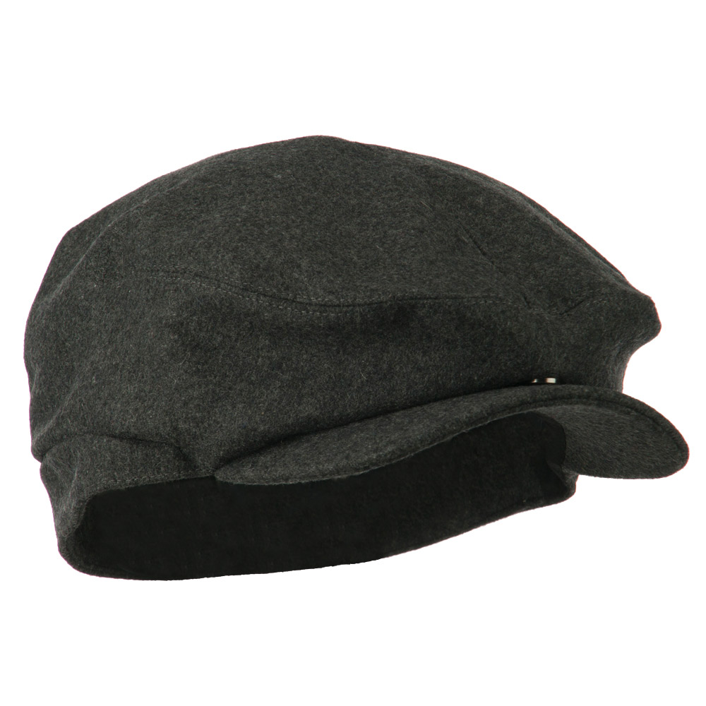New Wool Blend Ivy Cap-Charcoal - Hats and Caps Online Shop - Hip Head Gear
