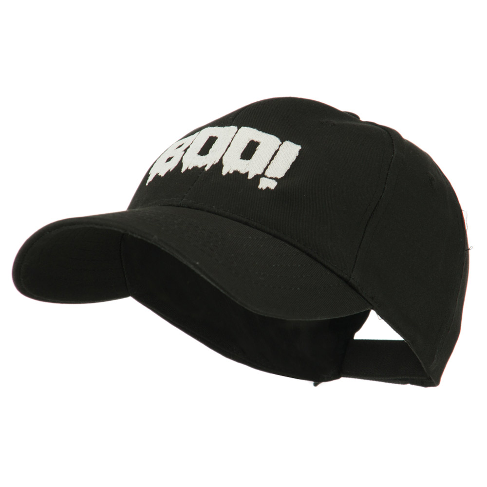 Halloween Boo Sign Embroidered Cap - Black - Hats and Caps Online Shop - Hip Head Gear