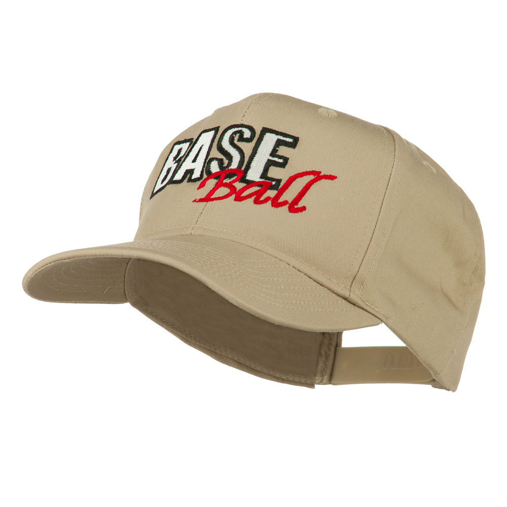Baseball Outline Embroidered Cap - Khaki - Hats and Caps Online Shop - Hip Head Gear