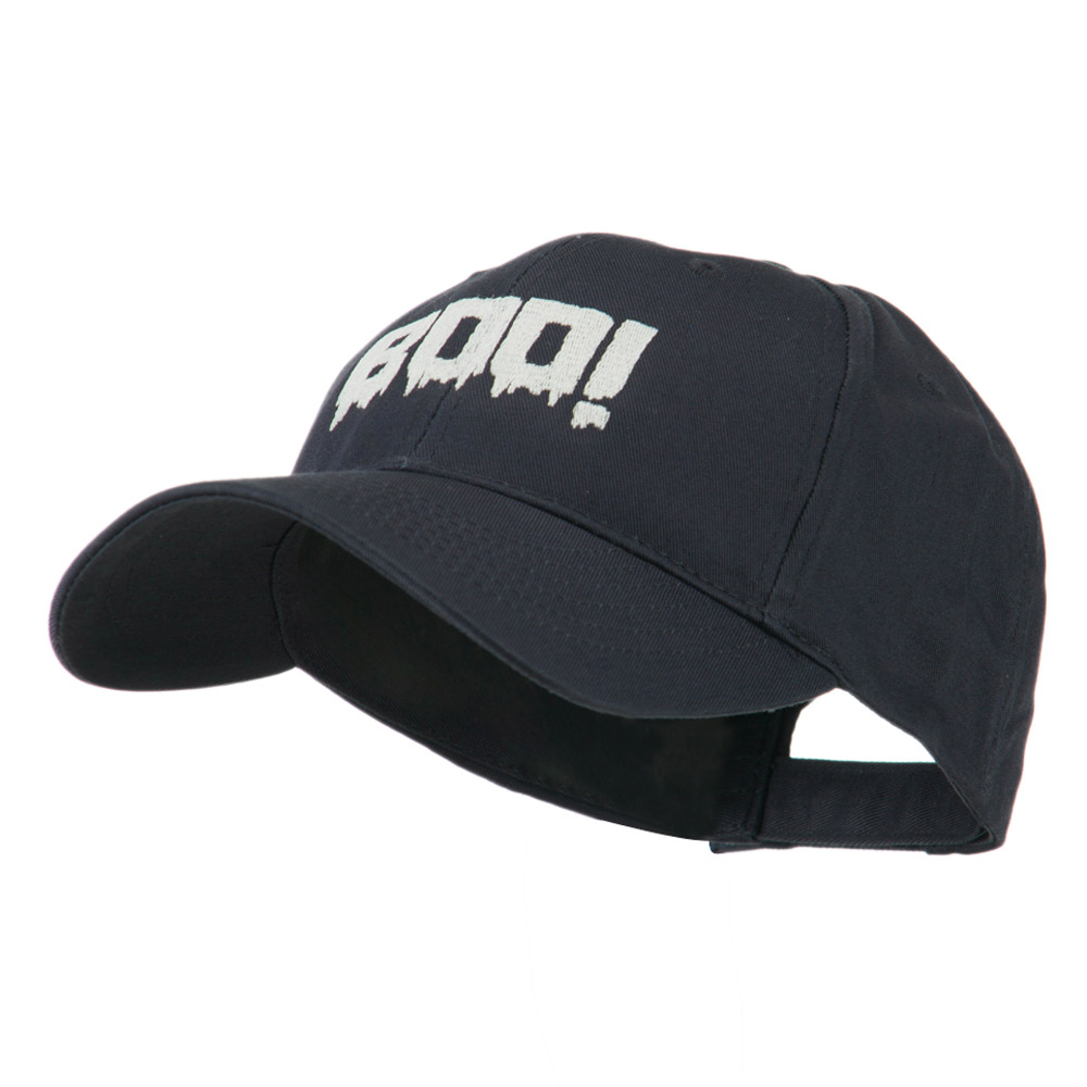 Halloween Boo Sign Embroidered Cap - Navy - Hats and Caps Online Shop - Hip Head Gear