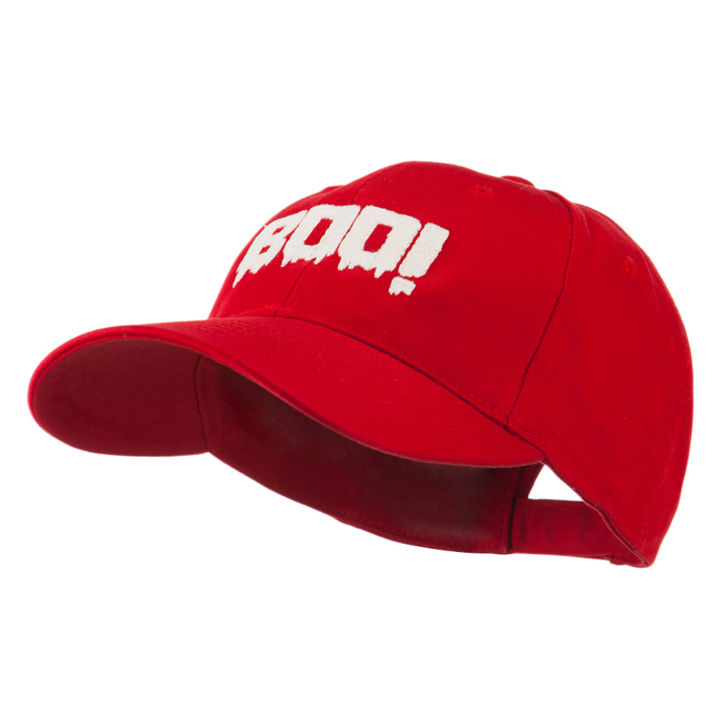 Halloween Boo Sign Embroidered Cap - Red - Hats and Caps Online Shop - Hip Head Gear