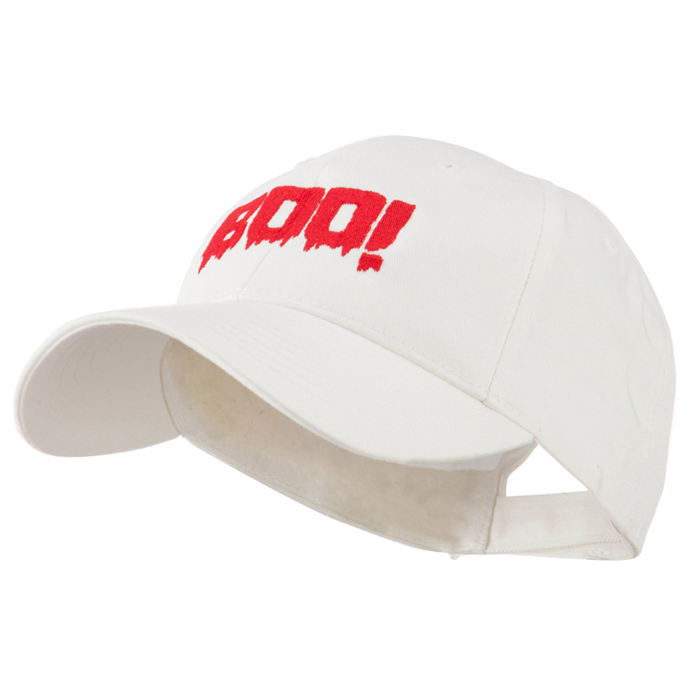 Halloween Boo Sign Embroidered Cap - White - Hats and Caps Online Shop - Hip Head Gear