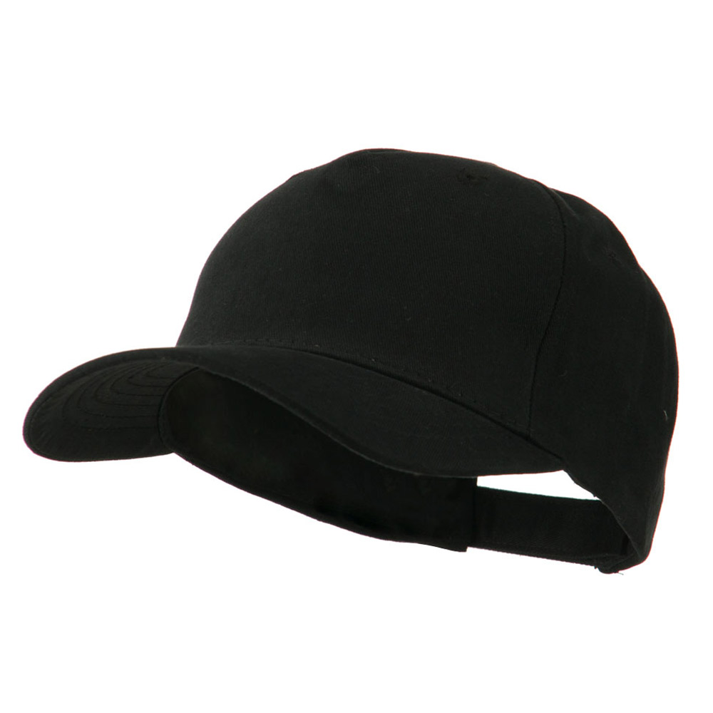 5 Panel Brushed Cotton Twill Constructed Cap - Black - Hats and Caps Online Shop - Hip Head Gear