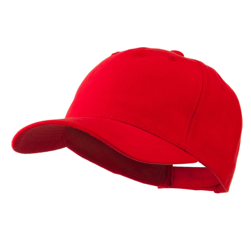 5 Panel Brushed Cotton Twill Constructed Cap - Red - Hats and Caps Online Shop - Hip Head Gear