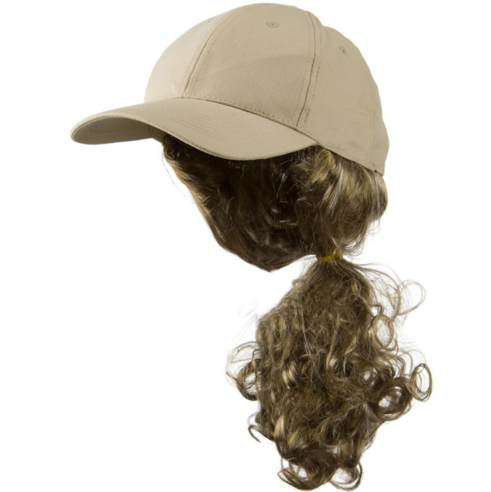 Dark Blond Pony Tail Twill Cap - Khaki - Hats and Caps Online Shop - Hip Head Gear