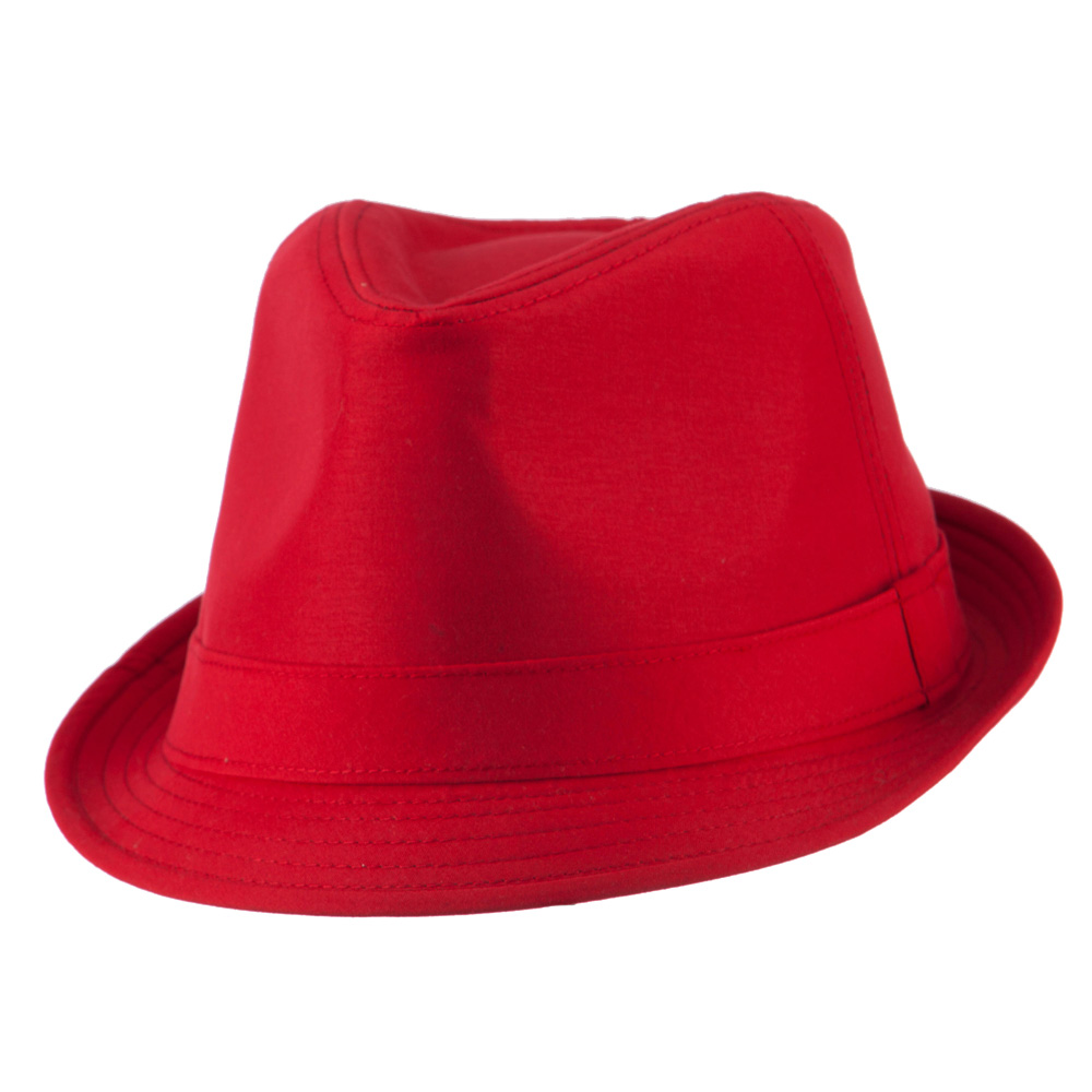 Basic Poly Woven Fedora Hats - Red - Hats and Caps Online Shop - Hip Head Gear