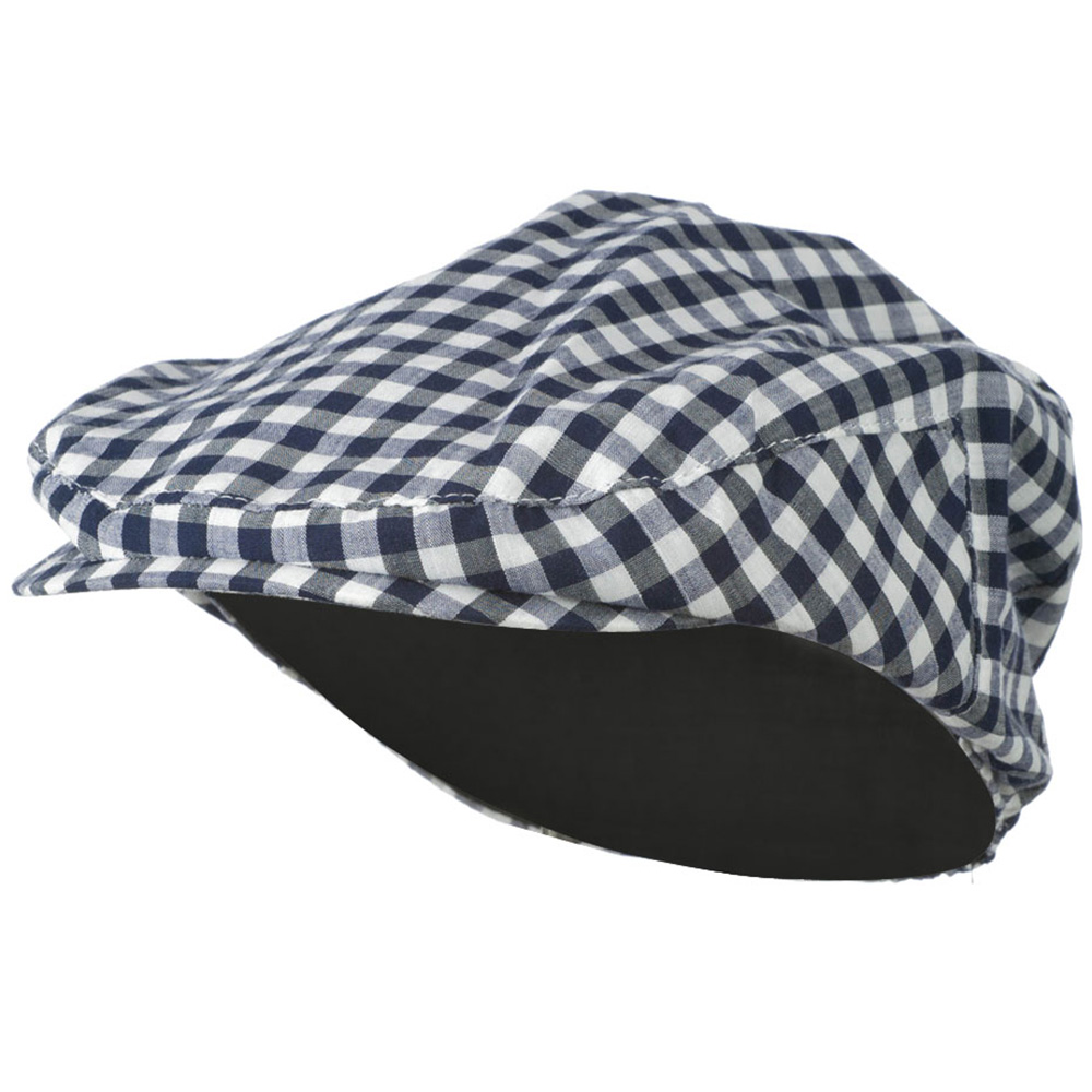 Boy's Plaid Driving Ivy Cap - Navy - Hats and Caps Online Shop - Hip Head Gear