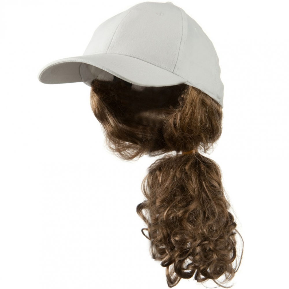 Dark Blond Pony Tail Twill Cap - White - Hats and Caps Online Shop - Hip Head Gear