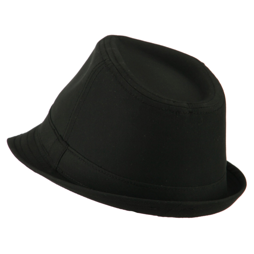 Basic Poly Woven Fedora Hats - Black - Hats and Caps Online Shop - Hip Head Gear