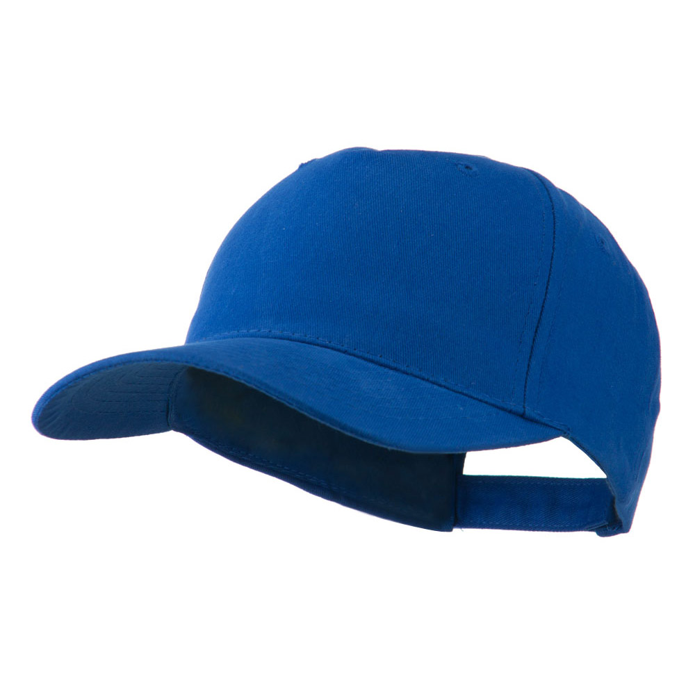 5 Panel Brushed Cotton Twill Constructed Cap - Royal - Hats and Caps Online Shop - Hip Head Gear