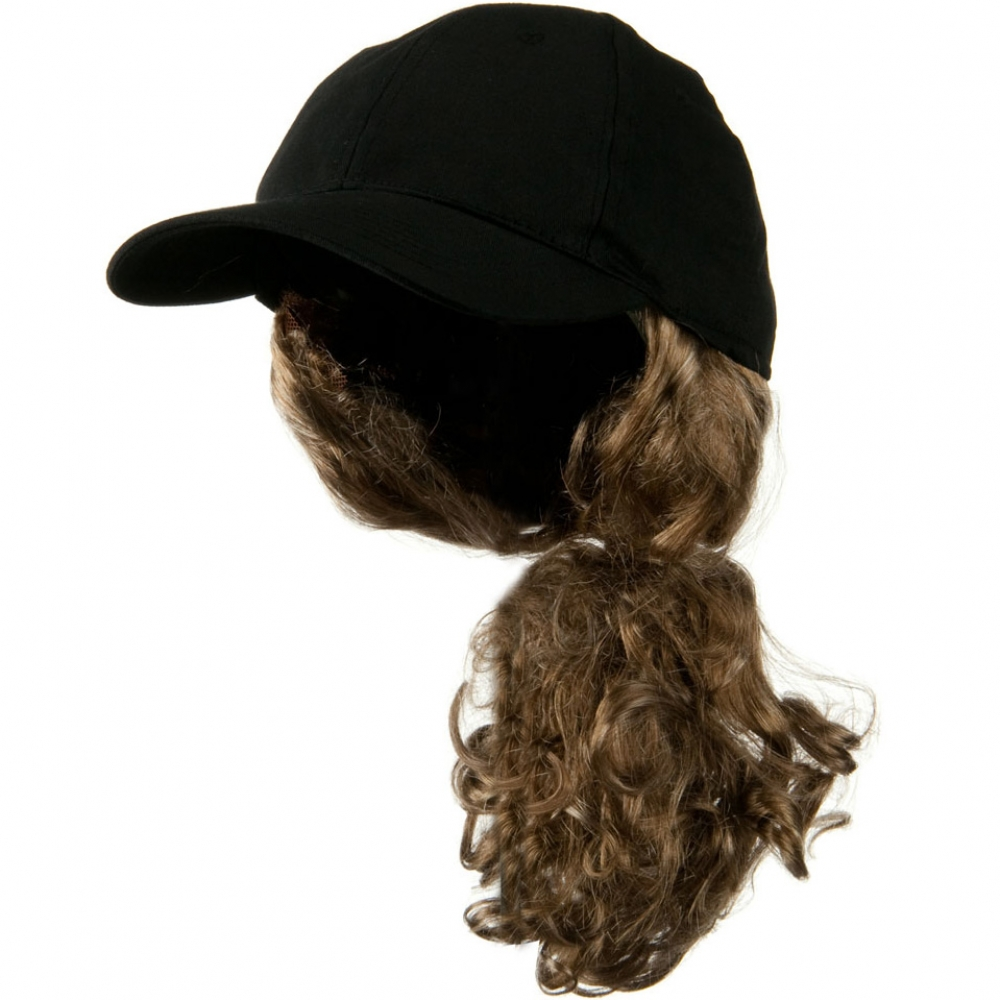 Dark Blond Pony Tail Twill Cap - Black - Hats and Caps Online Shop - Hip Head Gear