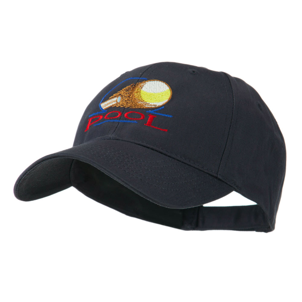 Billiard Pool Logo Embroidered Cap - Navy - Hats and Caps Online Shop - Hip Head Gear