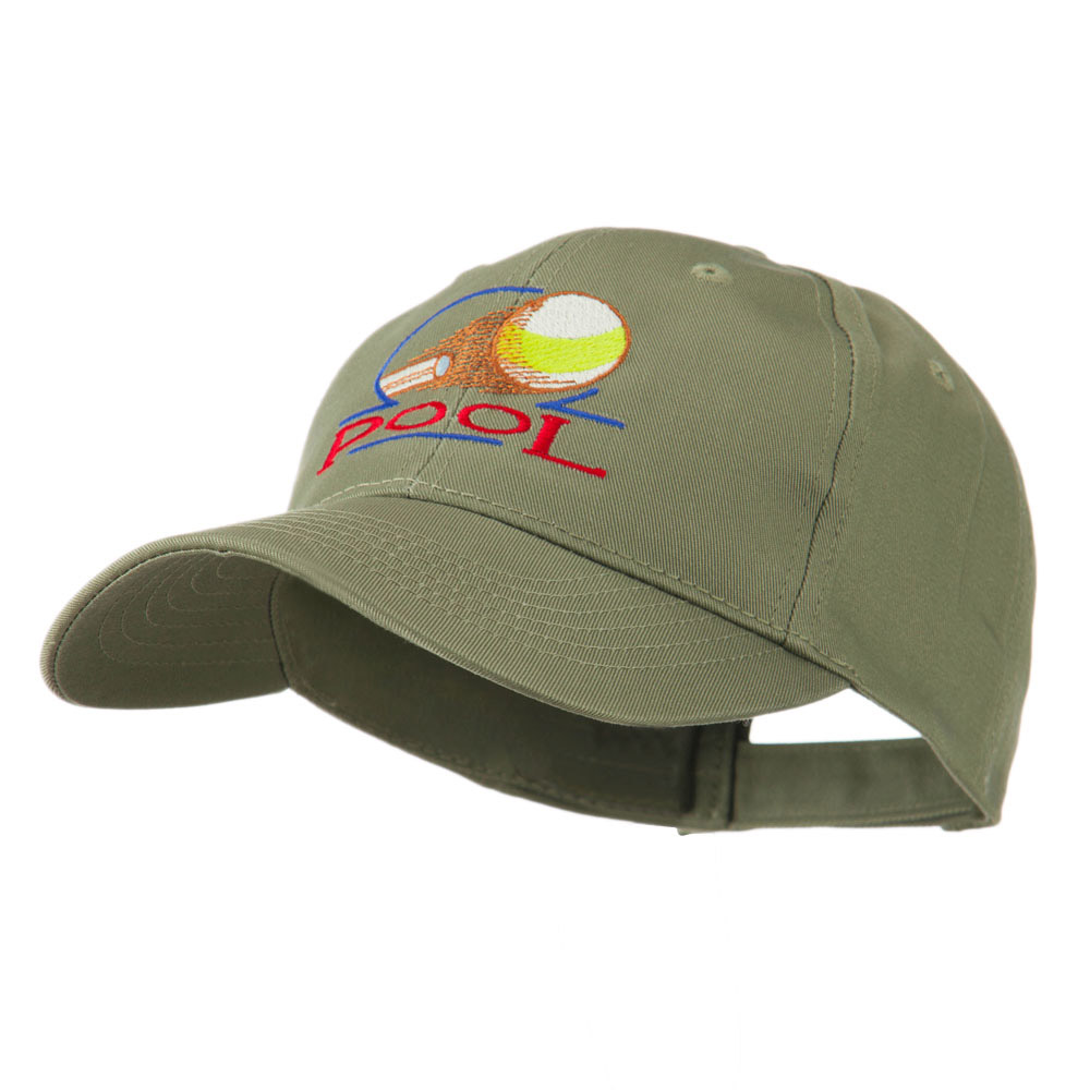 Billiard Pool Logo Embroidered Cap - Olive - Hats and Caps Online Shop - Hip Head Gear