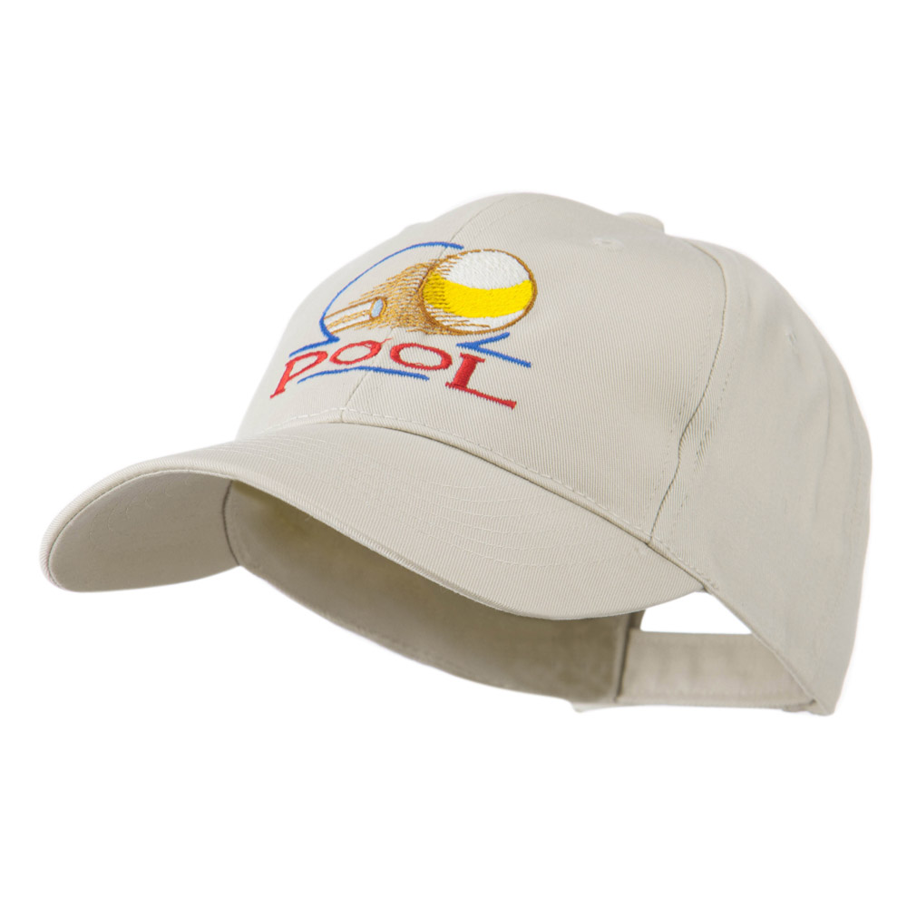 Billiard Pool Logo Embroidered Cap - Stone - Hats and Caps Online Shop - Hip Head Gear