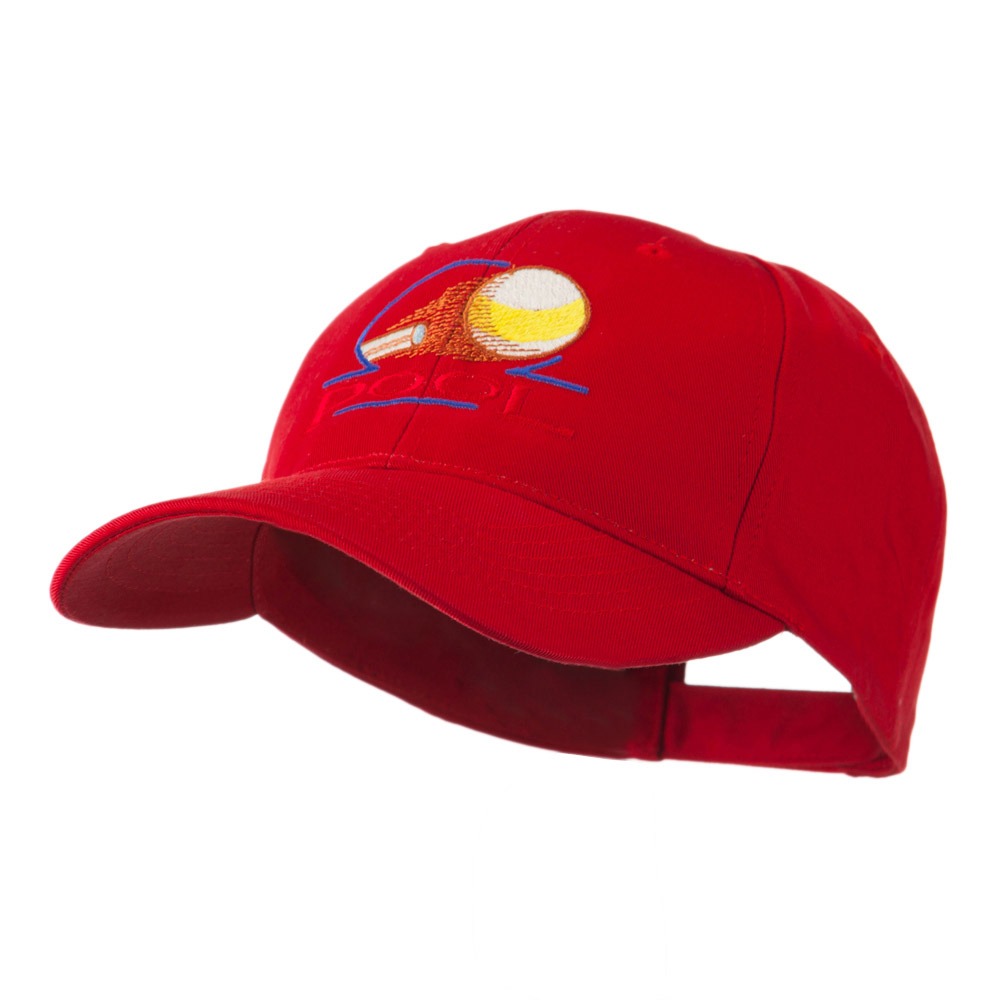 Billiard Pool Logo Embroidered Cap - Red - Hats and Caps Online Shop - Hip Head Gear