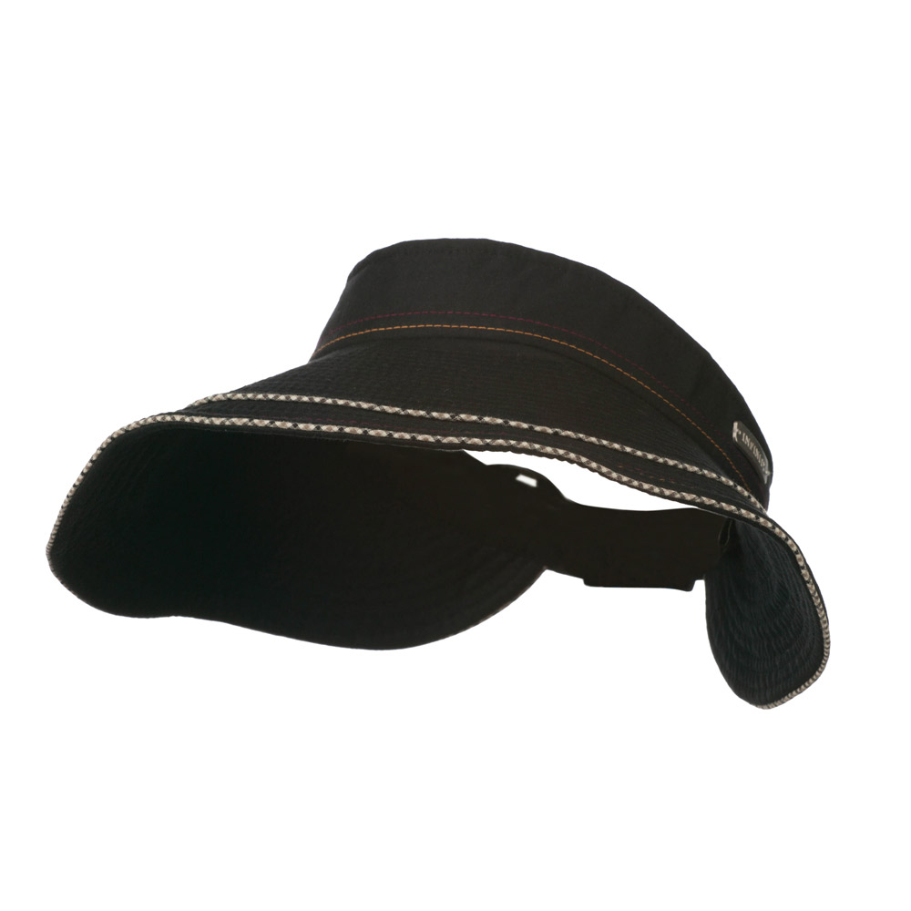 UV 50+ Infinity Series Large Brim Roll Up Sun Visor - Black - Hats and Caps Online Shop - Hip Head Gear
