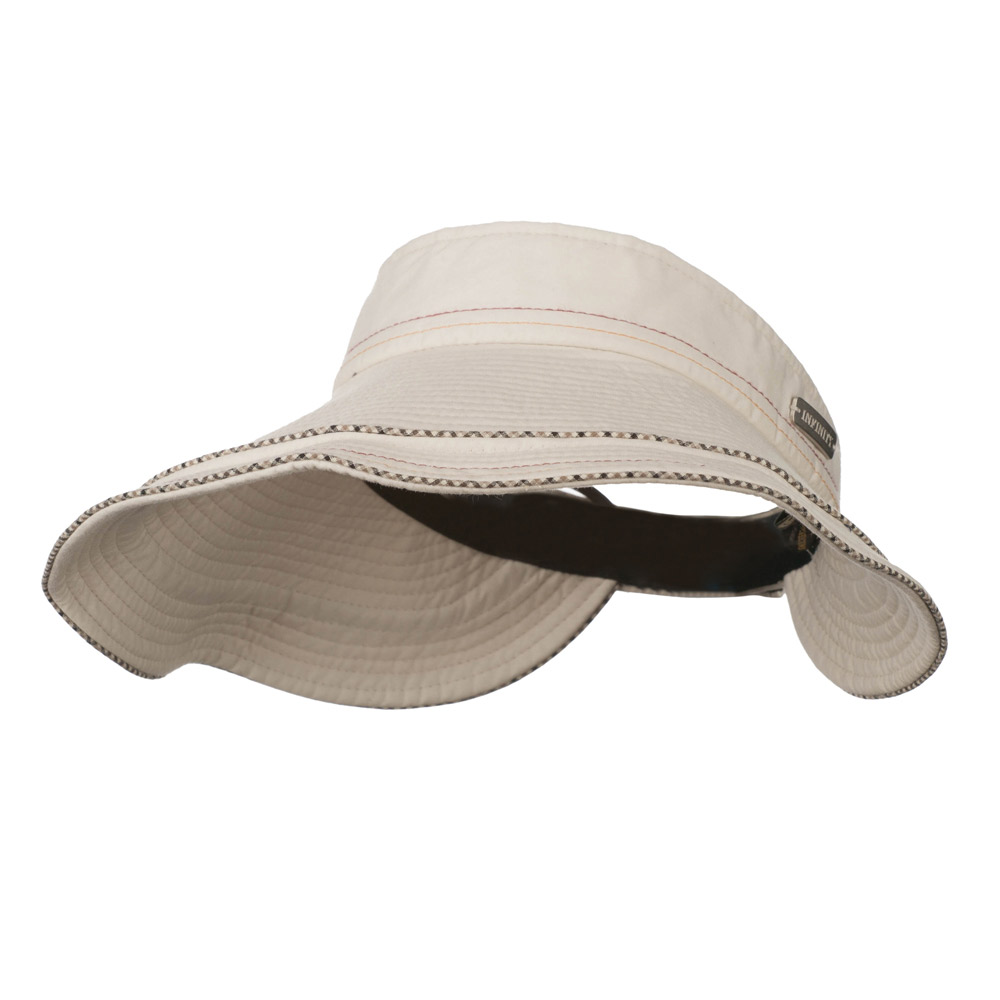 UV 50+ Infinity Series Large Brim Roll Up Sun Visor - Natural - Hats and Caps Online Shop - Hip Head Gear