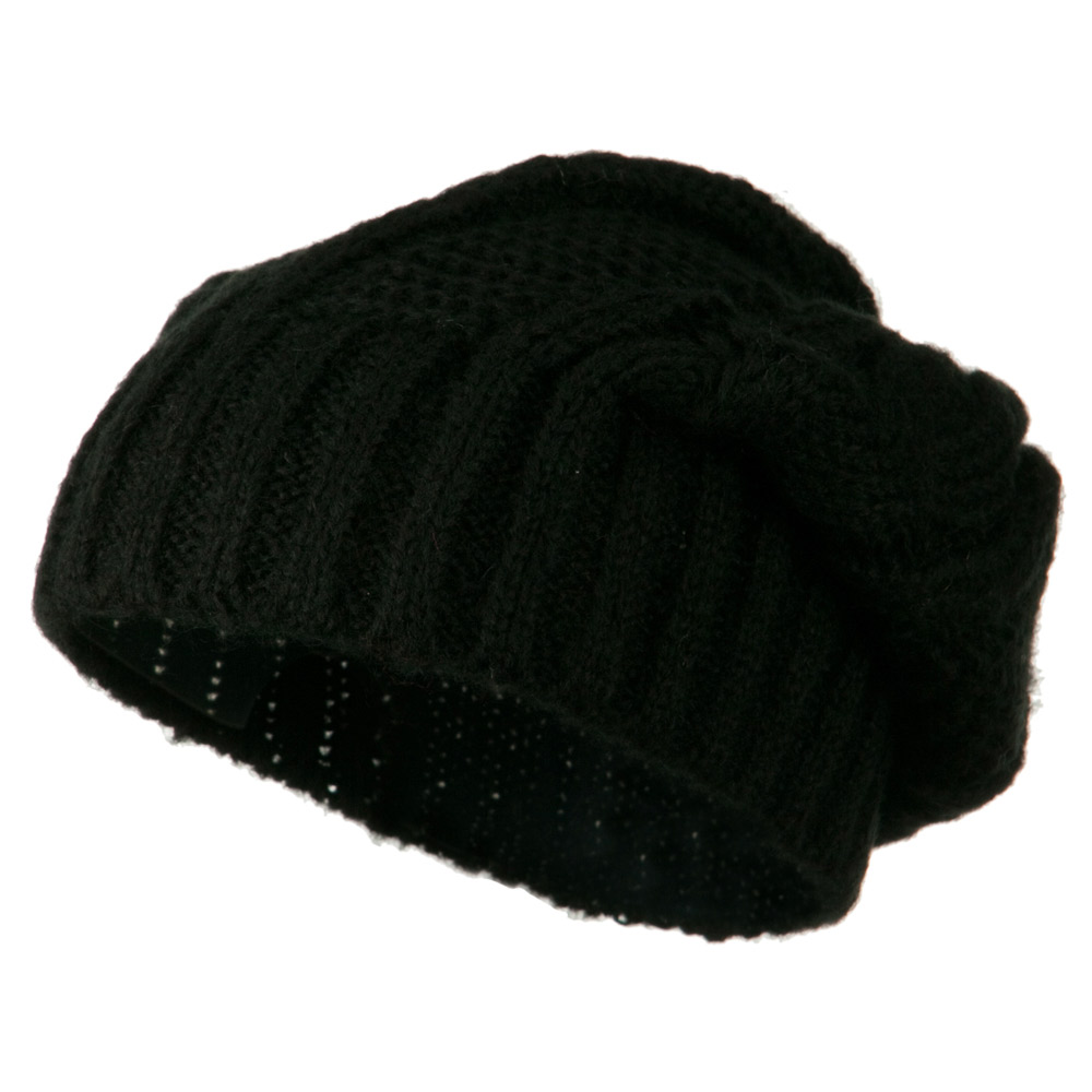 Big Skullie Cable Beanie - Black - Hats and Caps Online Shop - Hip Head Gear